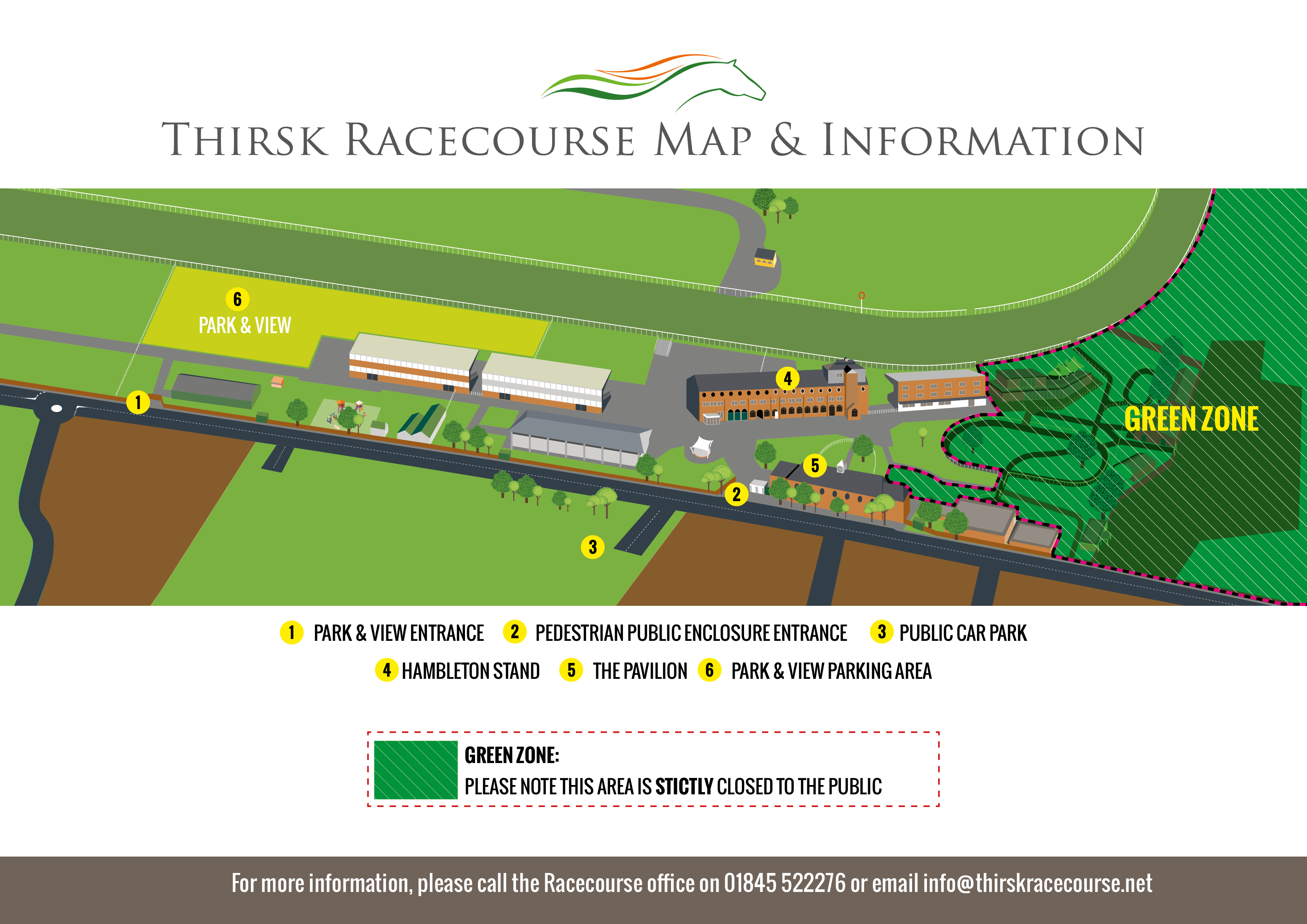 Thirsk Racecourse Map 2021